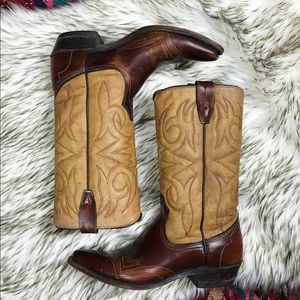 Texas Boot Company Two Toned Cowboy Boots
